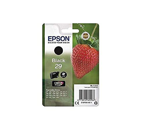 epson patronen 29 Epson Original EPST29814012 Tintenpatrone Erdbeere, Claria Home Tinte, Text- und Fotodruck   1er ,schwarz