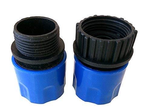 Topways® Bleu Extensible Garden Hose Adaptors Connector Tuyau d'arrosage mâle et femelle Adaptateurs Connecteur pour Tap et Vaporisateur