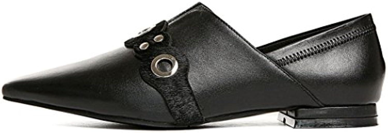 GAOLIXIA Damenschuhe Spitzschuh Flache Freizeitschuhe Mode Lässig Arbeit Karriere Schuhe Zwei Tragen Hausschuheö