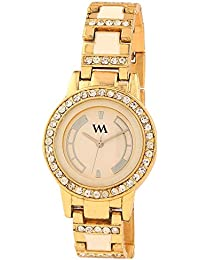 Watch Me Analog White Dial Stainless Steel Metal Strap Girls And Women's Watch WMAL-145appeasy
