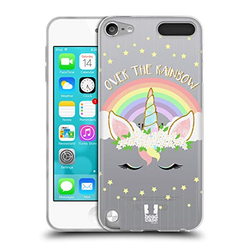 Head Case Designs Regenbogen Einhorn-Blumen Soft Gel Hülle für Apple iPod Touch 5G 5th Gen (Ipod Touch Gel 5 Case)