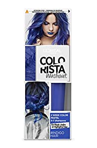 L'Oréal Paris Colorista Washout Pastel Colorazione Capelli Temporanea, Indaco (Indigo)