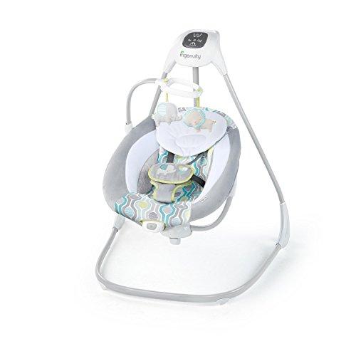Ingenuity 11149 SimpleComfort Cradling Swing - Everston Babyschaukel, grau