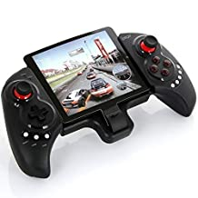 iPega PG-9023 Wireless Bluetooth Game Controller Gamepad Joystick with Stretch Bracket for iPhone 6 Plus iOS Android System - Black