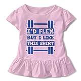 Ich w¨¹rde biegen, Aber ich mag Dieses Hemd Baby R?cke Entz¨¹ckende Kinder T-Shirt Kleid Baumwolle Volants Kost¨¹m