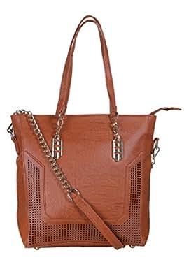 Freya Brown P.U Messenger Bag
