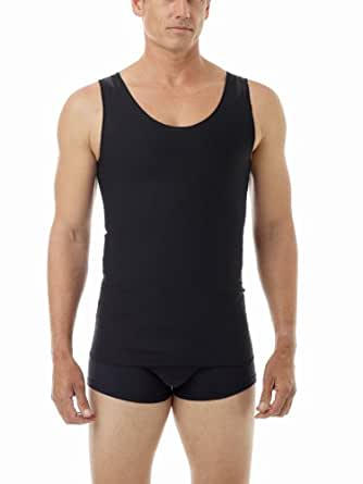 Underworks Ultimate Chest Binder Extreme Gynecomastia Tank Top, 2X, Black