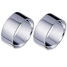 Par anillas plata esterlina 925grosor 10mm Fede alianza fascione Promo Hombre Mujer