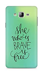 AMEZ she who is brave is free Back Cover For Samsung Galaxy ON7