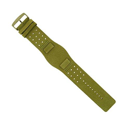 Fossil Uhrenarmband 20mm Leder Grün Uhrband JR8384 / LB-JR8384
