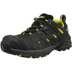 Texxor 6112 - S1 calzado de seguridad lyon zapatos de trabajo ligero, tamaño 43, negro,