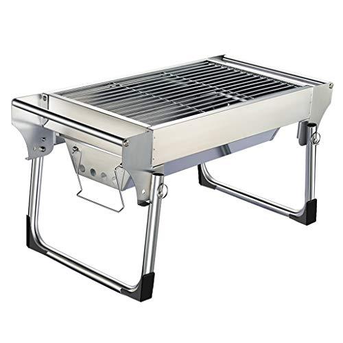 Barbecue@ Mini Grill Carbone di Legna BBQ Grill Multifunzione Ripiano per Grigliare A Carbone Selvaggio Portatile Set Pieghevole Attrezzo All'aperto Carbone