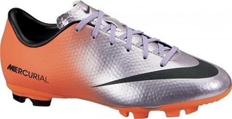 Nike Kinder Nocken Fussballschuh Mercurial Victory IV FG lila / orange, Größe:37.5