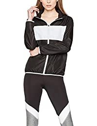 Iris & Lilly Women's Track Jacket Hooded with Long Sleeves