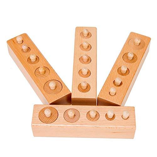 XYRONG Kinder pädagogische Spielzeug Elm Wasser-basierte Farbe pädagogisches Spiel zylindrische Basis Mathematik Holz Eltern-Kind-Interaktion (Wasser-basierte Farben)