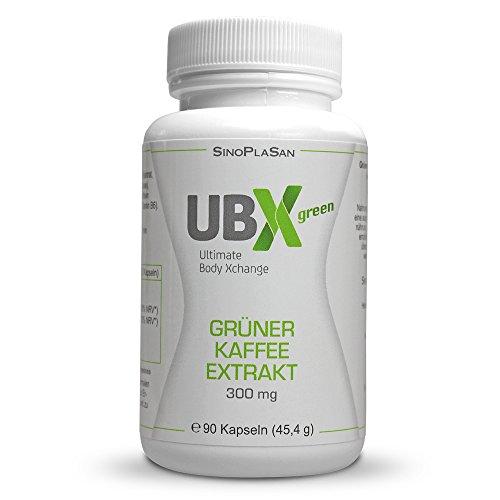 UBX green Grüner Kaffee Extrakt 90 Kapseln 300mg