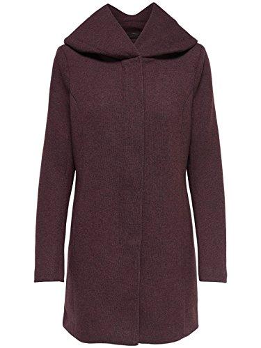 ONLY Damen Mantel Jacke onlSEDONA Light Coat Parka Übergang Herbst (XS, Weinrot (Chocolate Truffle))