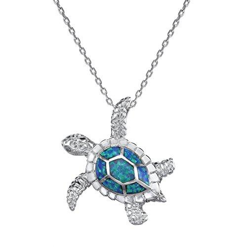viki-lynn-collier-pendentif-tortue-argent-de-bleu-opale-synthtique-bijoux-en-forme-de-mignon-tortue-