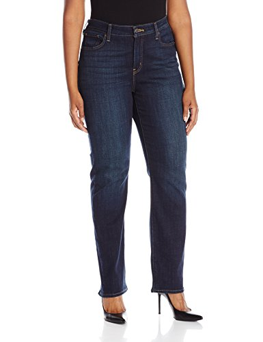 Womens Thistle (Levi's Women's Plus-Size 414 Classic Straight Jean's, Thistle Lake, 38 (US 18) S)
