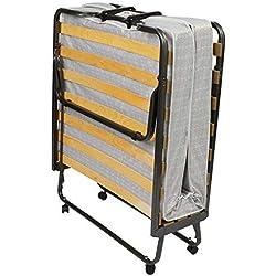 Beautissu Venetia - Confortable lit d'appoint, invité - Pliant + roulettes + Housse de Protection - 80x200cm