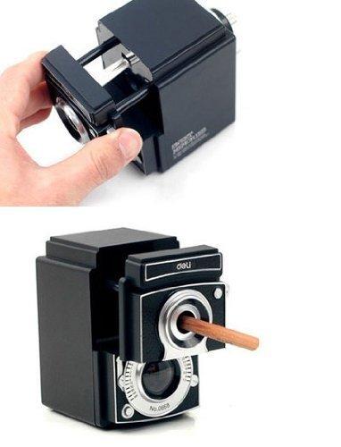 Dr Luck retro camera temperamatite nero