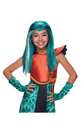 Monster High De Nefera Nile Kostüm - Rubie 's Offizielles Kind 's Monster High Mattel Nefera Perücke - eine Größe.