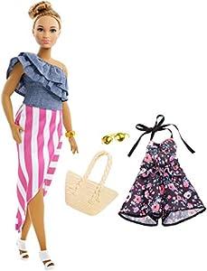 Barbie- Muñeca Fashionista Latina con Modas, Multicolor (Mattel FRY82)