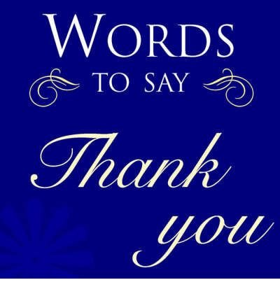[(Words to Say Thank You)] [Author: Sarah Hoggett] published on (March, 2007)
