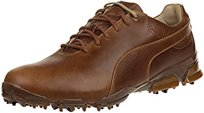 Puma Titantour Ignite Premium Men Golfschuhe Golf brown leather 188654 02