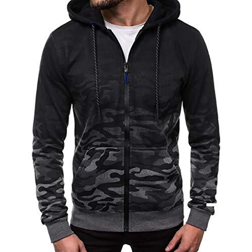 IFOUNDYOU Mantel Hoodie Herren Winter Baumwolle Bekleidung Chic Jacke Jacke Fashion Outwear Charm Rundhals Farbverlauf Bluse Sweatshirt Tops Hoodies