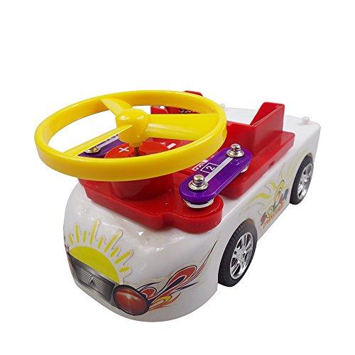 Goolsky Elektronik Discovery Kit Bildungs Lernen Schaltung Blöcke Wissenschaft Experiment Kits Angetrieben durch Solar Batterie Beste DIY Spielzeug für Kinder (Phantasie Entdeckung Blöcke)