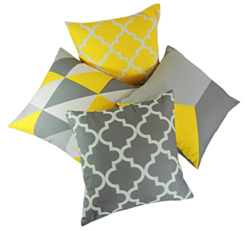 collection-of-4-designs-yellow-grey-linen-geometric-18-inch-cushion-covers