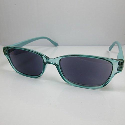 2in1Lesebrille-Sonnenbrille türkis für SIE & IHN Lesehilfe mit Flexbügel +3,0