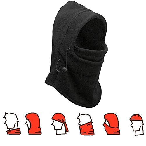 Nackenwärmer Ski Hat, richera doppelte Schichten thermische warme Fleece Sturmhaube dicker Kapuze Full Face Cover Maske Winter Wind Beweis Stopper Hat Nacken wärmer für Outdoors Snowboard Ski (Kapuzen Maske)