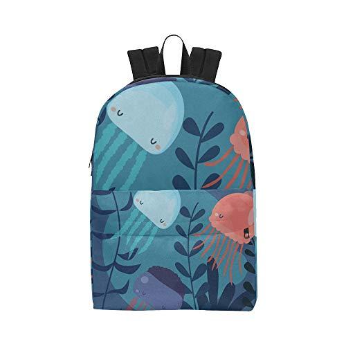 Violette Qualle Marine Animal Classic Cute Wasserdichte Laptop Daypack Taschen Schule College Rucksäcke Rucksäcke Bookbag Für Kinder Frauen Und Männer Reisen Mit Reißverschluss Und Innentasche