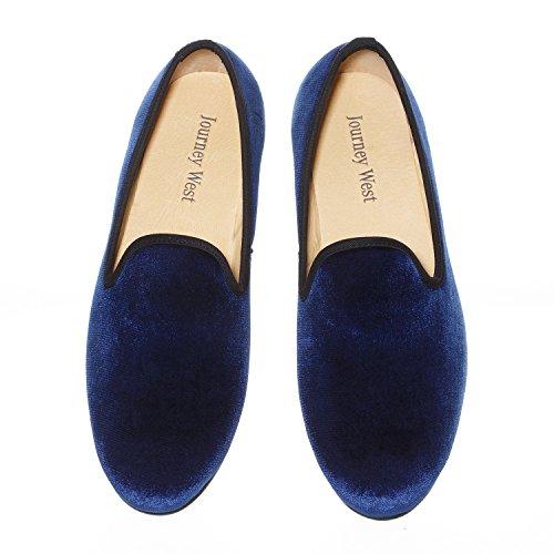 Broderie En Vintage Velours Flâneur Noble Enfiler À Chaussures Veste qSTtdWAWO