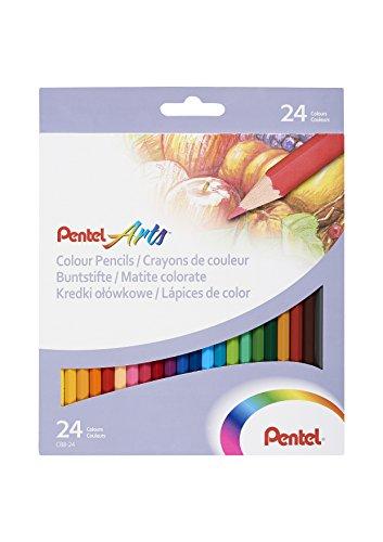 pentel-cb8-24u-color-pencil-pastelli-confezione-da-24-colori