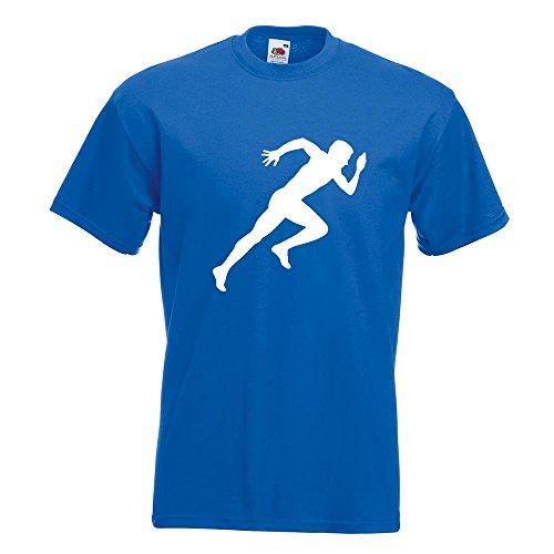 KIWISTAR - Läufer Marathon Sprint T-Shirt in 15 verschiedenen Farben - Herren Funshirt bedruckt Design Sprüche Spruch Motive Oberteil Baumwolle Print Größe S M L XL XXL Royal