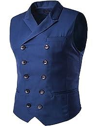 Cloudstyle Gilet de costume deux boutonnages veste sans manches slim fit mince homme Par YFFUSHI
