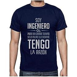 Camiseta para Hombre - Soy Ingeniero Solo Asume Que Siempre Tengo la Razón - Regalo Original para Ingenieros XX-Large Azul Oscuro