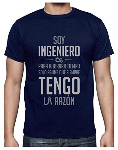 Camiseta para Hombre - Soy Ingeniero Solo Asume Que Siempre Tengo la Razón - Regalo Original para Ingenieros Large Azul Oscuro