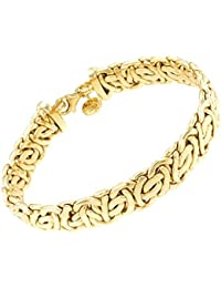 tendenze-ITALY Belcher Chain Bracelet, 18k Gold Doublé, 14mm Length Choosable, Directly From The Italian Factory