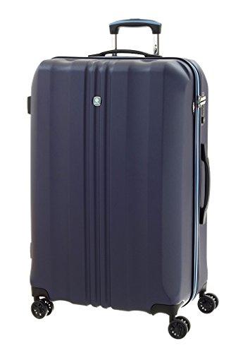 Trolley dielle grande in abs iperleggero.tsa. 77x51x29 cm,97 litri,kg 4,2.garanzia globale 2 anni. (blu)