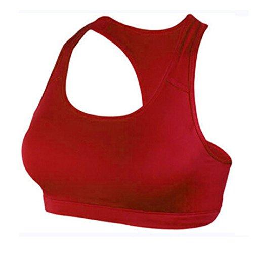 Nanxson(TM) Femmes Soutien-gorge/Gilet De Sport Pour Yoga Course Gymnastique Tennis YDSW0004 Rouge
