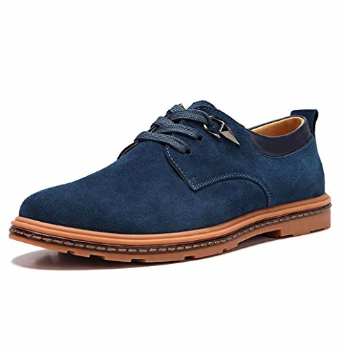 Heart&M casual grande taille lacets daim cuir chaussures days blue