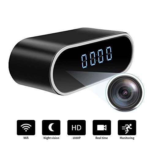 Orologio con telecamera spia nascosta WiFi   Full HD 1080P   Videocamera portatile in tempo reale senza fili di piccole dimensioni