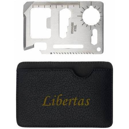 Preisvergleich Produktbild Mehrzweckwerkzeug mit gravierten Halter mit Namen: Libertas (Vorname/Zuname/Spitzname)