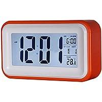 SODIAL(R) Touch-LCD-Digital-Wecker LED-Licht Snooze Hintergrundbeleuchtung Digit Zeit Kalender - Orange preisvergleich bei billige-tabletten.eu