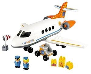 Jouets Ecoiffier- Avión Happy Jet con Dos Figuras (Ecoiffier 3045) Preescolar