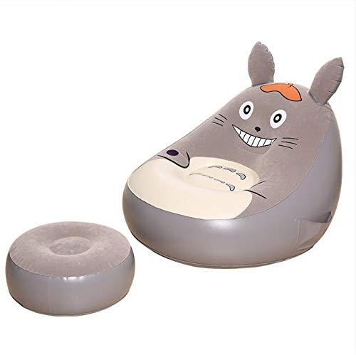 ival Cartoon Hammock Chair Lazy Bag Chair Sofa Office Living Room Outdoor Lazy Bag Flocking ()